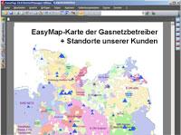 Lutum+Tappert Geomarketinganwendung Gasnetzbetreiber