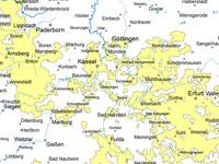 Lutum+Tappert Karte der Marktgebiete Gas